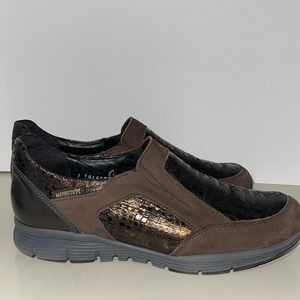 Mephisto brown slip on shoes size 7